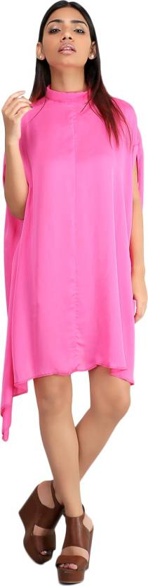 Unclad Women's A-line Pink Dress