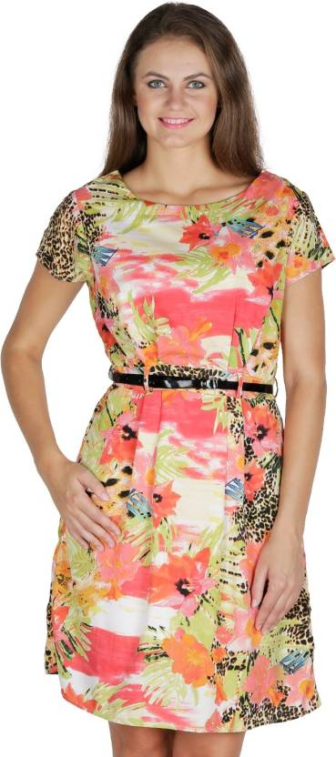 Mayra Women's Gathered Multicolor Dress