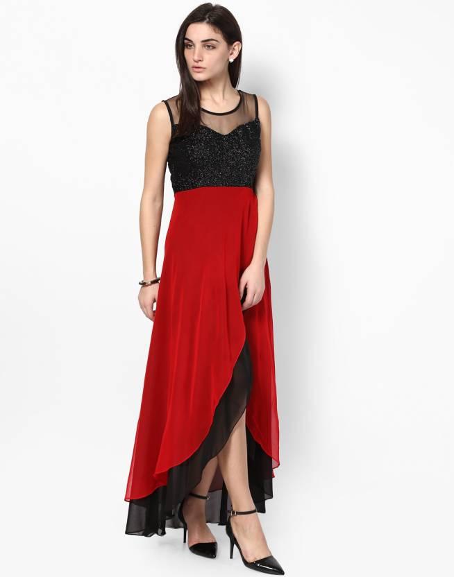 Athena Womens Maxi Red Black Dress Buy Red Black Athena Womens