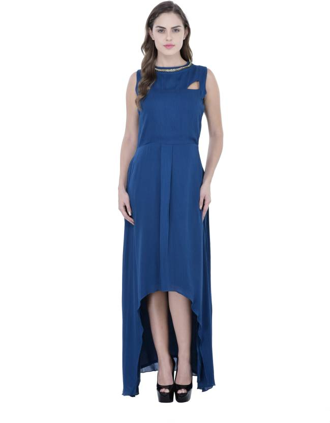 ce137d042fbce Athena Women s High Low Blue Dress - Buy Teal Athena Women s High ...