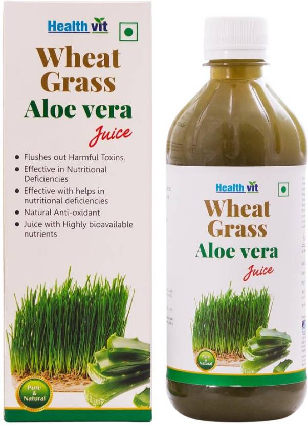 Healthvit WheatGrass Aloevera 500 ml Fruit Juice