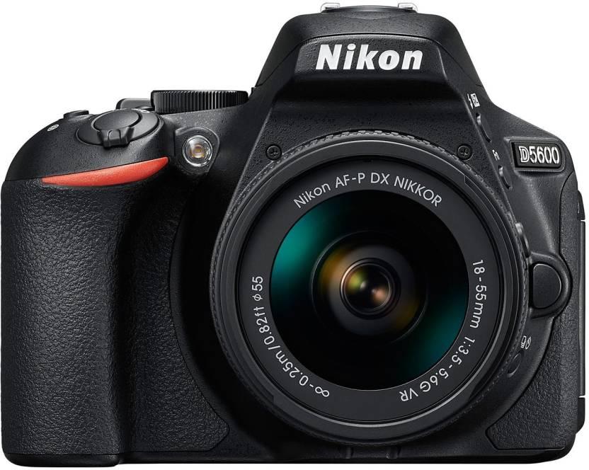 Nikon D5600 DSLR Camera With the AF-P DX Nikkor 18 - 55 MM F/3.5-5.6G VR