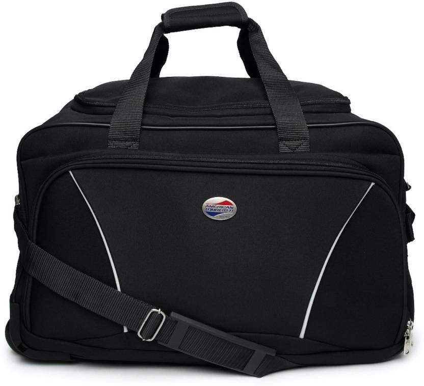 American Tourister (Expandable) Vision Duffel Strolley Bag Black ... d4e00f6c503a5