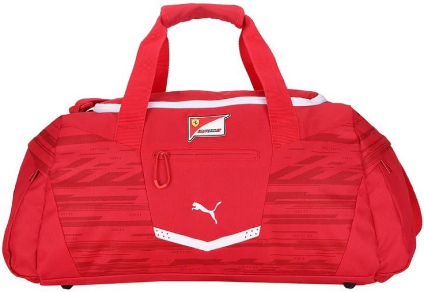 fa65a1bc8489 Puma Ferrari Replica Medium Teambag Travel Duffel Bag Rosso Corsa ...