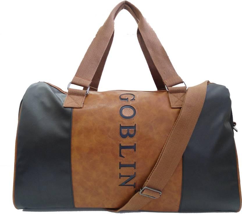 c7e186ede6e7 Goblin DART DUFFLE Travel Duffel Bag BROWN BLACK - Price in India ...