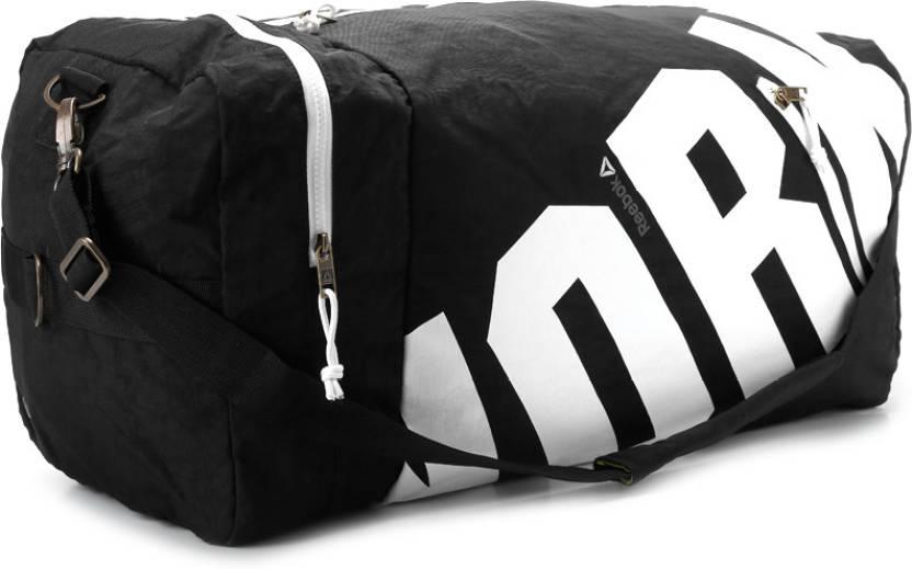 81a1873d939 REEBOK 23 inch 60 cm Aerobics Grip Travel Duffel Bag Black - Price in India    Flipkart.com