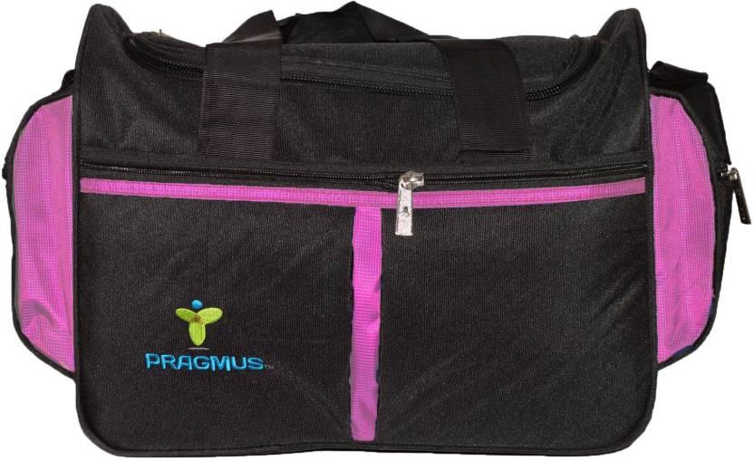 7de973cd6557 Pragmus 16 inch/41 cm Travel Duffel Bag Travel Duffel Bag Black Pink ...
