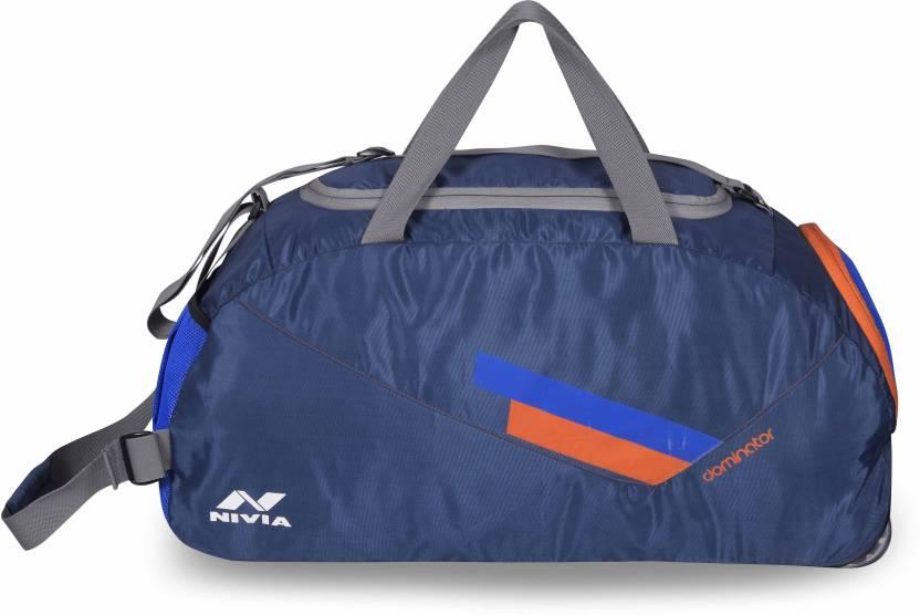 4025c942b Nivia Dominator Multi-Purpose Bag Large Travel Duffel Bag (Blue, Kit Bag)