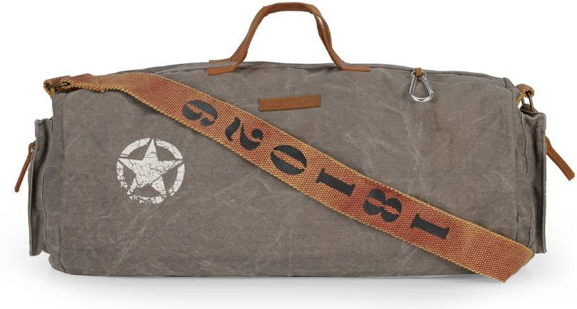 dc36bc8139b2 The House of Tara 20 inch/51 cm Distress Finish Canvas Duffle/Gym Bag  Travel Duffel Bag