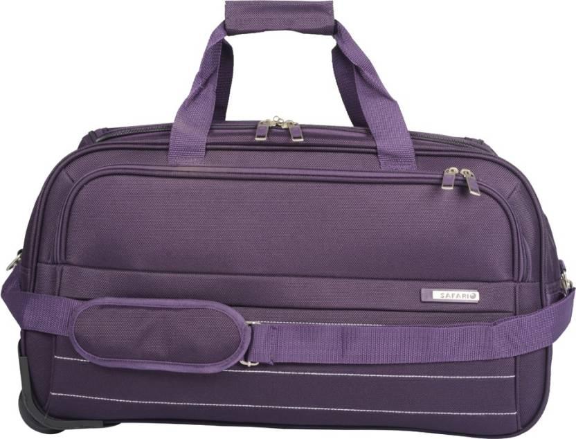 ca443b0a5b94 Safari 22 inch 56 cm Allstorm 55 Purple Rolling Duffle Bag Duffel Strolley  Bag (Purple)