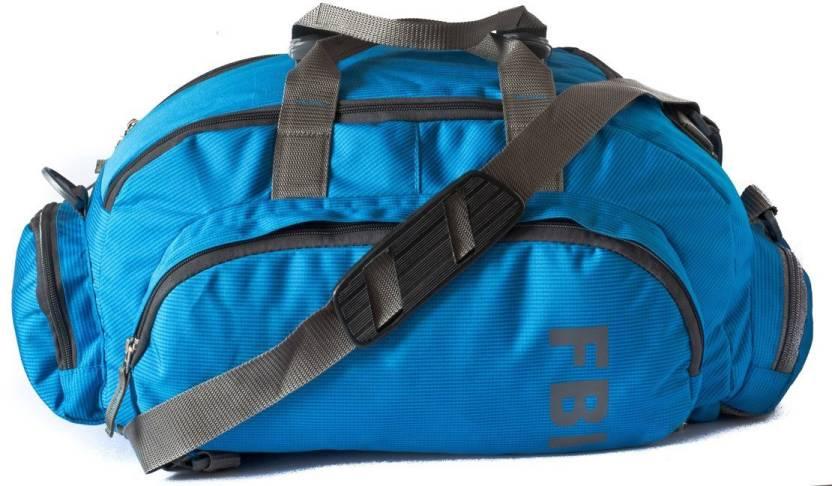 3eb18111233b FBI 16 inch/41 cm Gym Cum Duffle Bag Gym Bag BLUE - Price in India ...