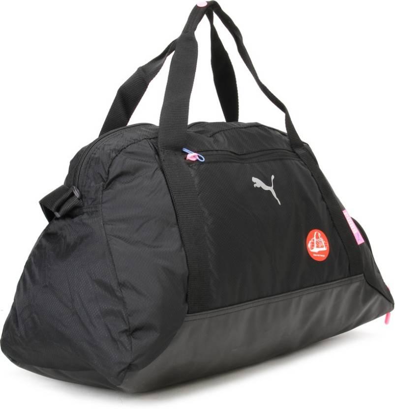 Puma 19 inch 49 cm Fit At Sports Duffle Travel Duffel Bag Black ... f603f7d983