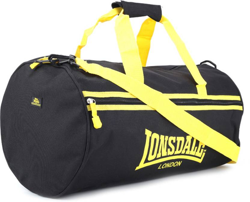 207f626107 Lonsdale 20 inch 51 cm Travel Duffel Bag Black and Yellow - Price in India
