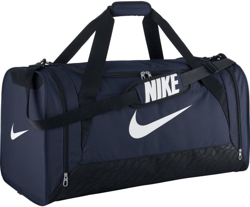 Nike NIKE BRASILIA 6 LARGE DUFFEL BAG NAVY Travel Duffel Bag (Blue) 5e758587d4