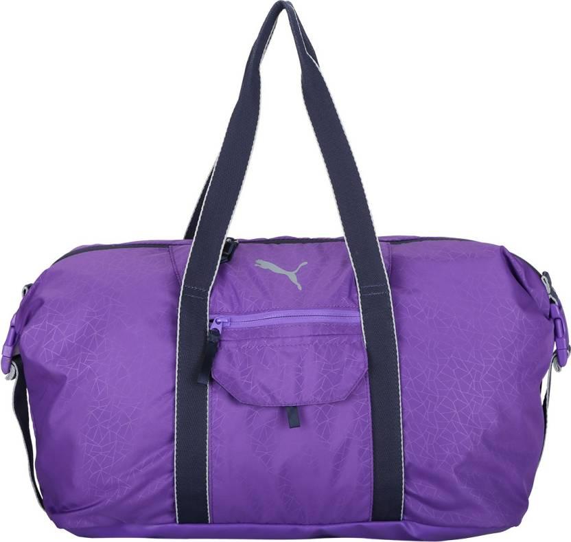 Puma Fit AT Workout Bag Gym Bag ELECTRIC PURPLE-Peacoat-Quarry ... c3a6a18b7243b