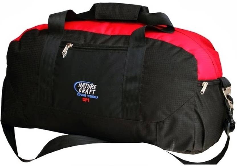 64d508c8ce51 Nature Craft DF1 Travel Duffel Bag Black, Red - Price in India |  Flipkart.com