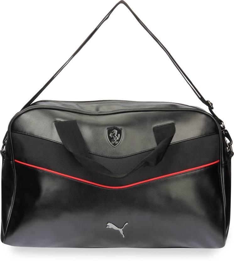 Puma Ferrari LS Large Travel Duffel Bag Black - Price in India ... f973e02f86a60
