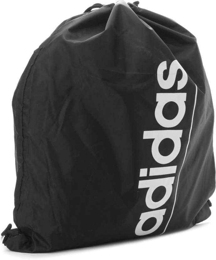 0661b358e09c ADIDAS Linear Ess GB Gym Bag Black and White - Price in India ...