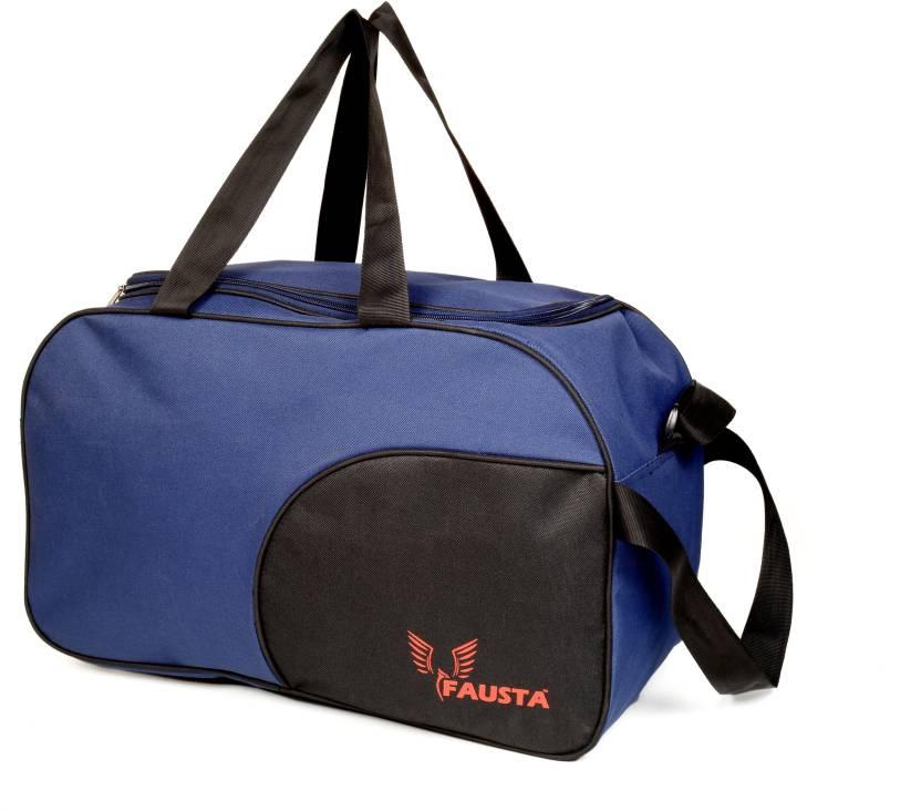 Fausta 20 inch 51 cm Duffle bag(blue with black) Travel Duffel Bag (Blue) b2119de15960d
