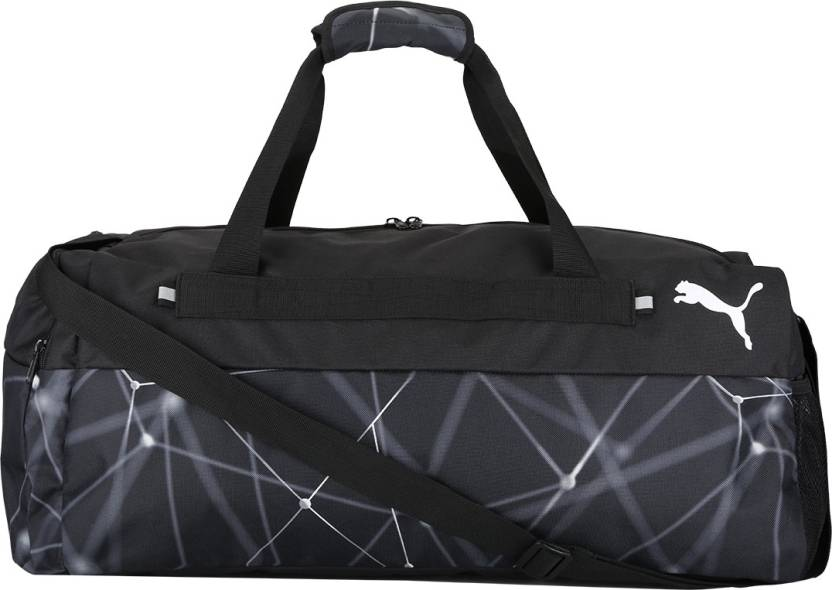 dca4f975b9 Puma Fundamentals Sports Bag Graphic M Gym Bag Puma Black-galaxy ...