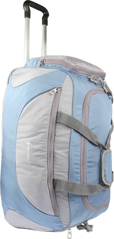 2c3109caa6 President (Expandable) TROLLEY BLUE-GREY Travel Duffel Bag (Multicolor)
