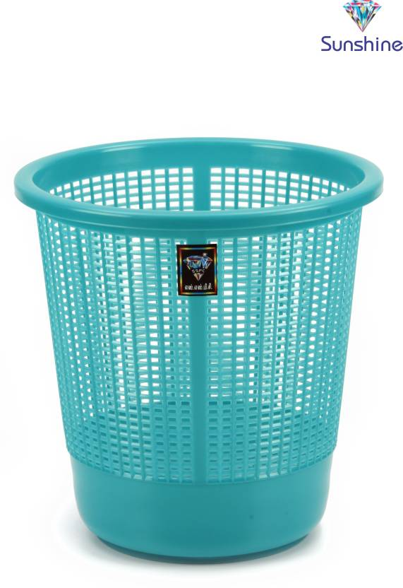 Sunshine Big Jalli Light Green Plastic Dustbin
