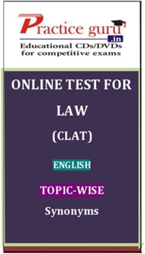 Practice Guru Law (CLAT) English Topic-wise Synonyms Online