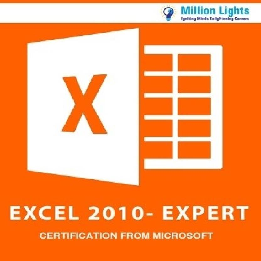 Millionlights Excel 2010 Expert Certification From Microsoft