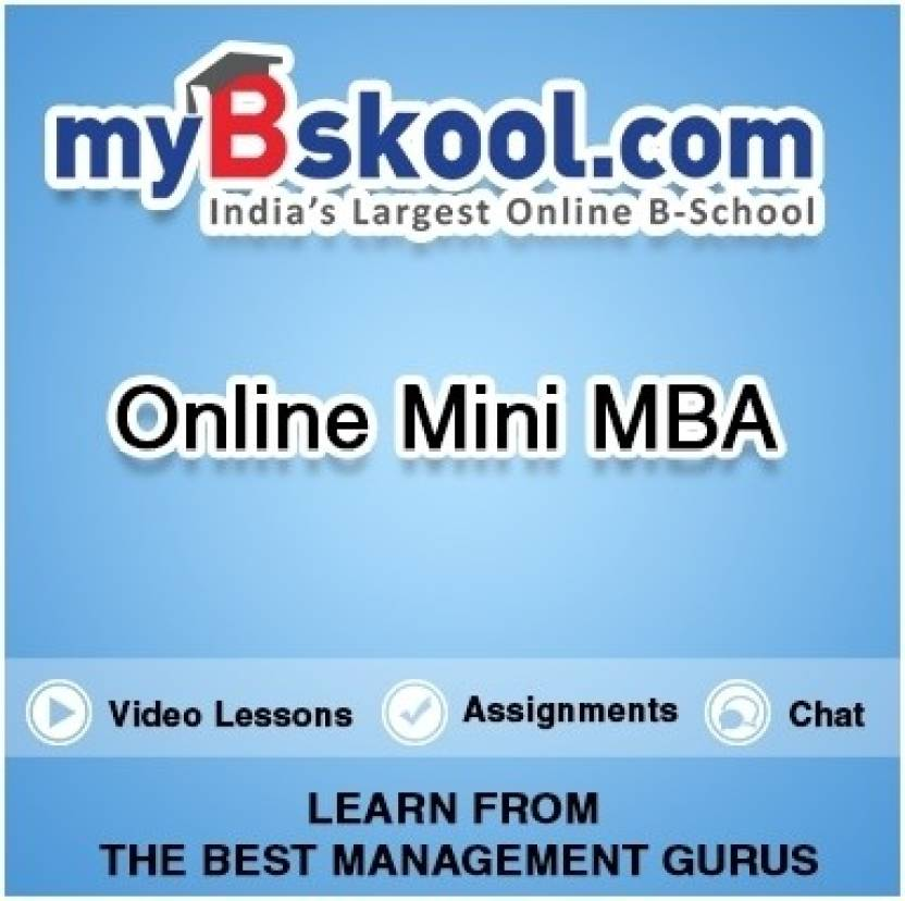 Mybskool Online Mini Mba Certification Course Price In India