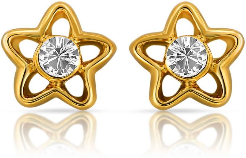 Mahi Shinning Star Alloy Stud Earring