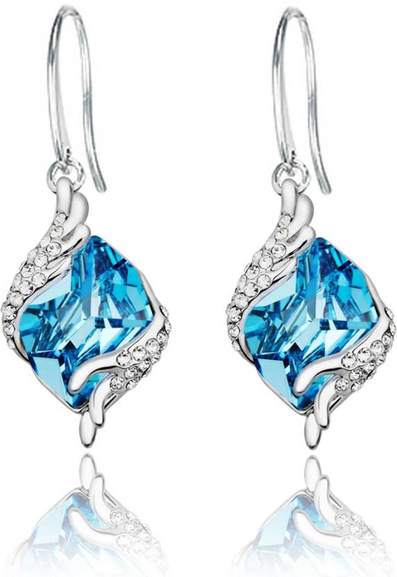 Flipkart.com - Buy Yellow Chimes Angel Guardian Swarovski Crystal Alloy Dangle  Earring Online at Best Prices in India 7ce72c33797a