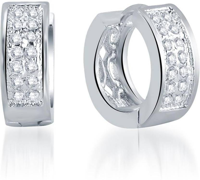 9f3ced4c07 Flipkart.com - Buy Pissara Surveen Chawla Incredible Micro Pave Setting  Cubic Zirconia Alloy Hoop Earring Online at Best Prices in India