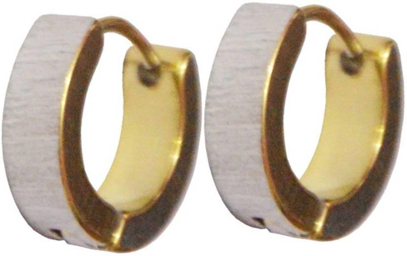 3eef109bf89 Flipkart.com - Buy Men Style Best Quality Korean Styles 316L Stainless  Steel Hoop Earring Online at Best Prices in India