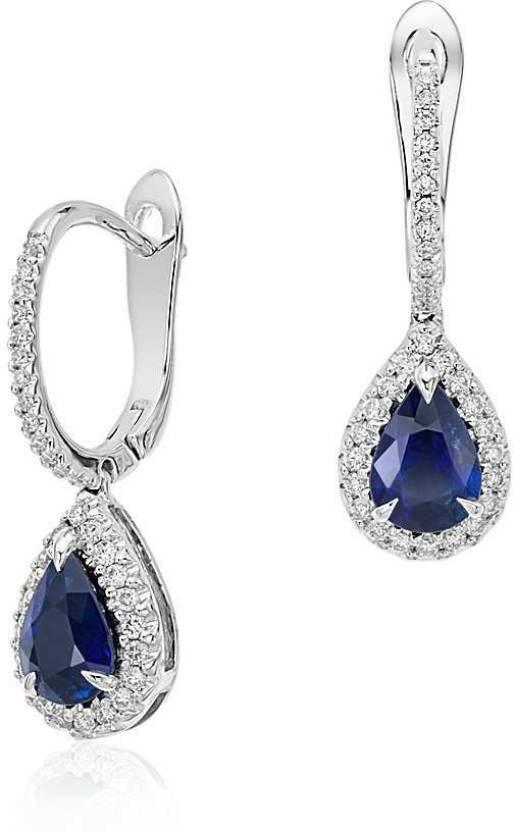 Zevrr Swarovski Crystal Silver Clip On Earring