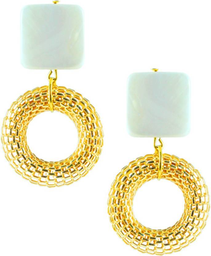 ceb2f2ad318190 Flipkart.com - Buy Abhika Jewels Modern Mesh Alloy Dangle Earring Online at  Best Prices in India