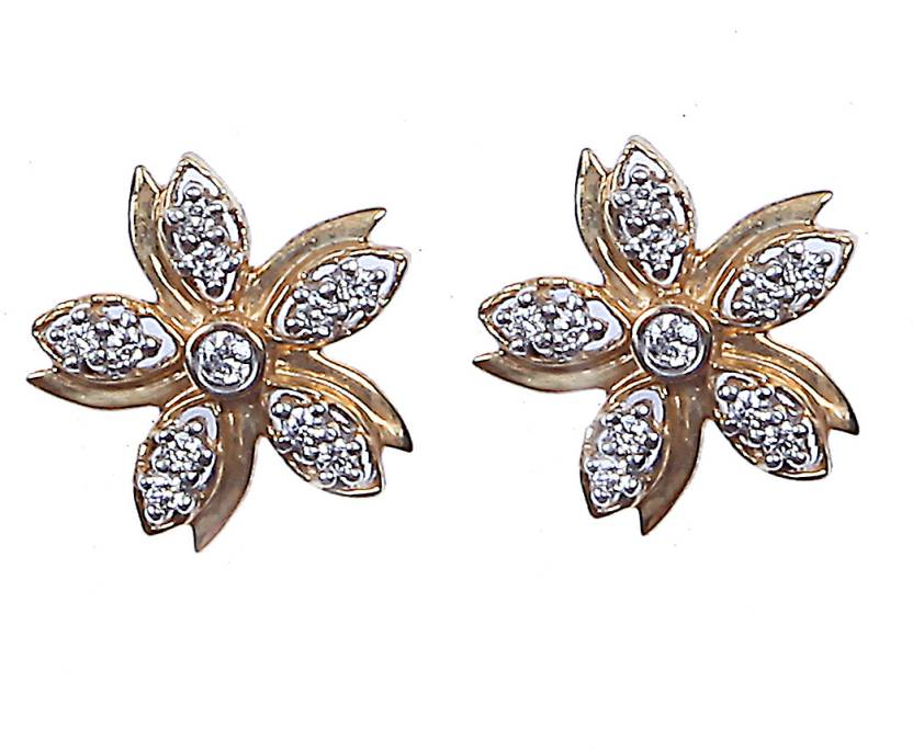 Rashi Jewellery 0 19 Carat Diamond Gold Stud Earring