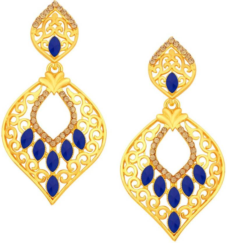 c68f0ca86 Flipkart.com - Buy Sukkhi Fancy Gold Plated Alloy Drop Earring Online at  Best Prices in India