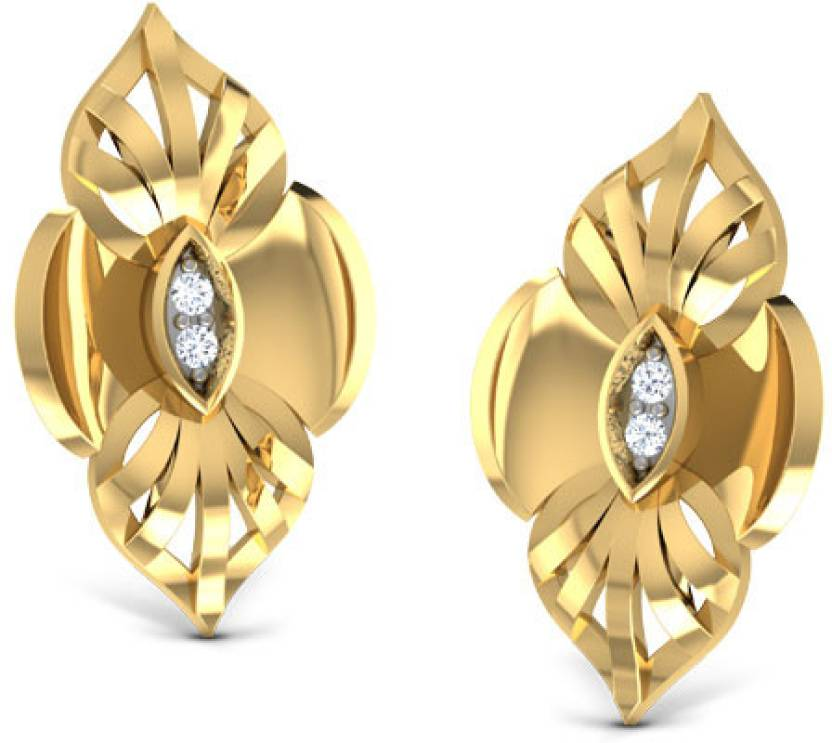 1bbd2e259388a Caratlane Sovereign Yellow Gold 18kt Diamond Stud Earring Price in ...