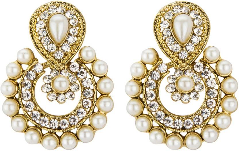 Flipkart Com Buy Freshvibes Original Chandbali Earrings Golden