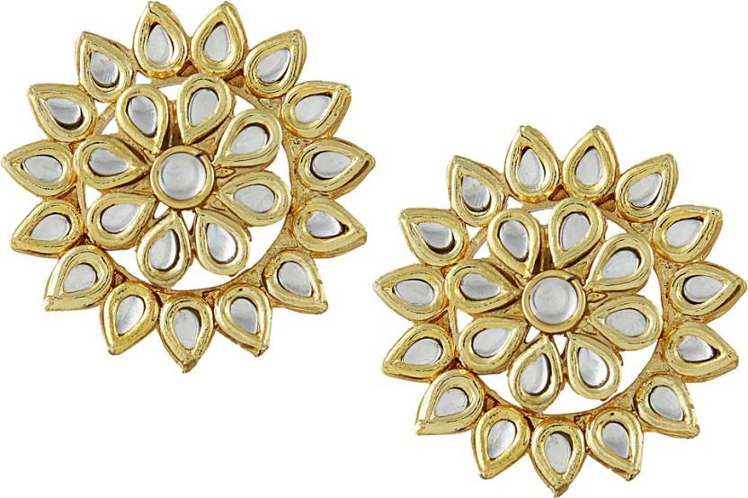 9d65cf1d5fb Flipkart.com - Buy JEWELLITY Kundan Meenakari Studs Copper Stud Earring  Online at Best Prices in India