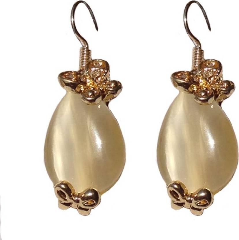 Shreya Collection Spring Sparkle Yellow Alloy Dangle Earring