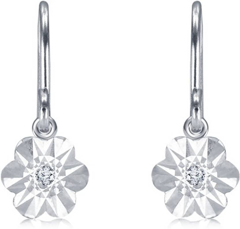 3904843e8 Flipkart.com - Buy Demira Jewels Miracle Plate Diamond Sterling Silver  Dangle Earring Online at Best Prices in India