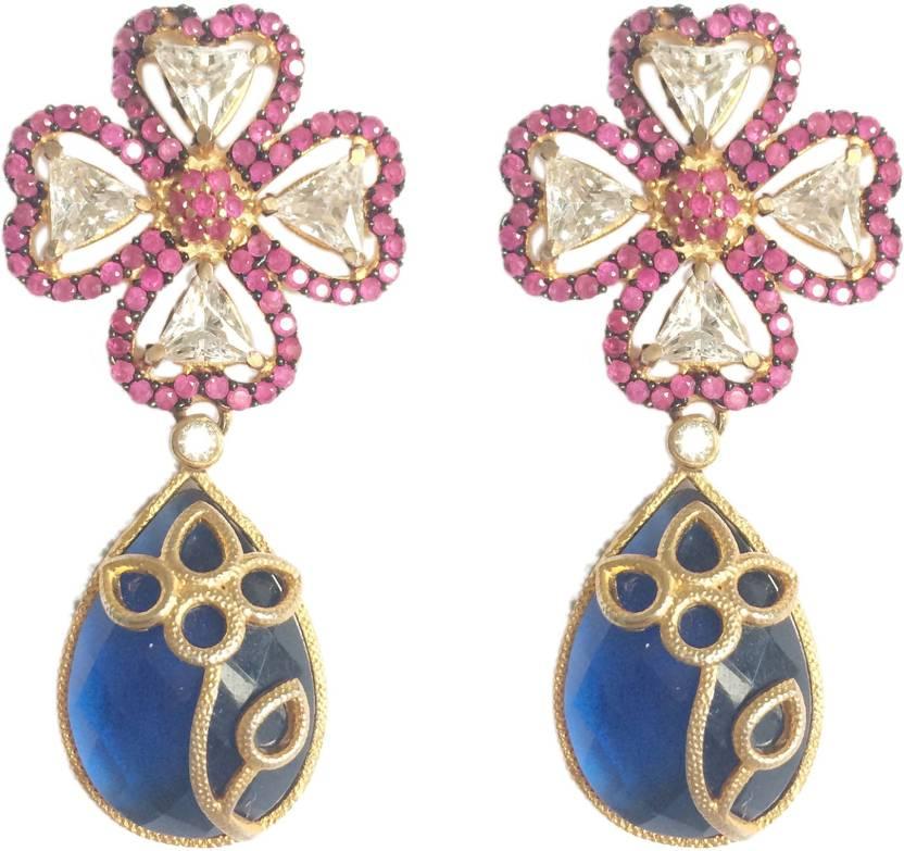 Adrisya Adrisya Clover Alloy Drop Earring