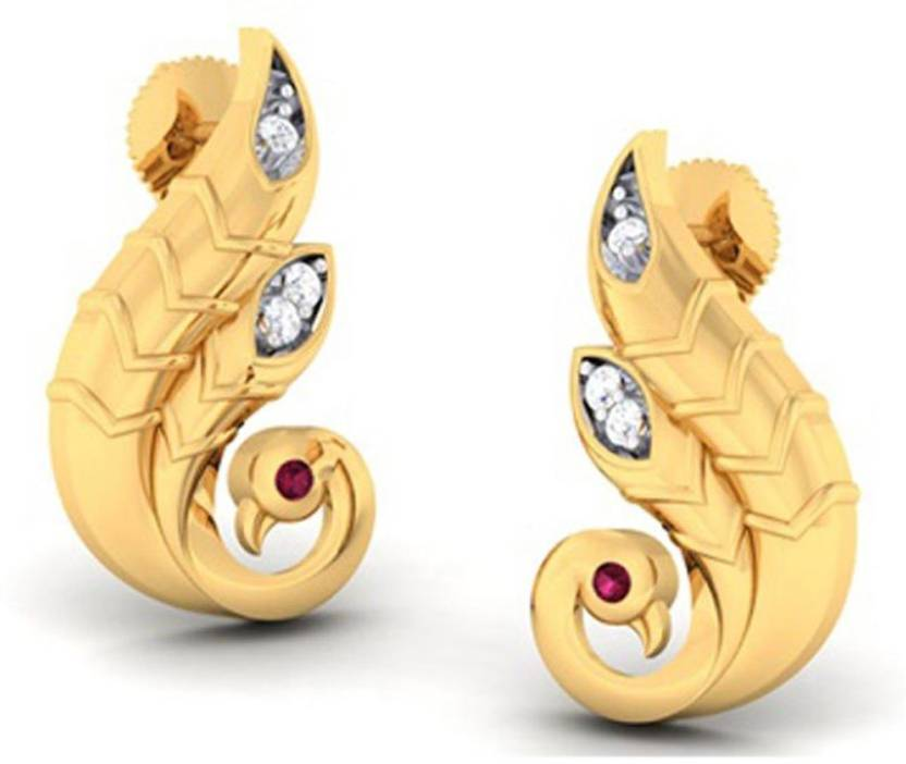 fadd1538e Flipkart.com - Buy Amantran Jewels Duck design Diamond Gold Stud Earring  Online at Best Prices in India