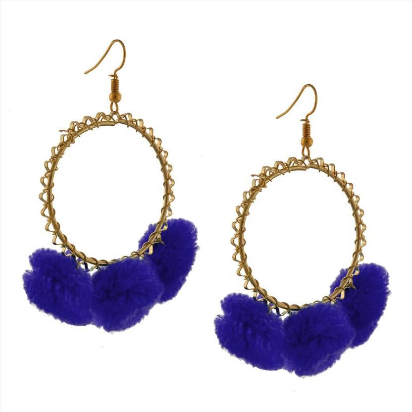 69e9ab56b Flipkart.com - Buy Zephyrr Fashion Dangle And Drop Pom Pom Earrings For  Women & Girls Alloy Dangle Earring Online at Best Prices in India