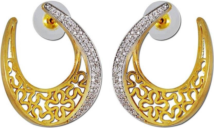Enzy Tanishq Mia Collection Designer Baali Alloy Hoop Earring