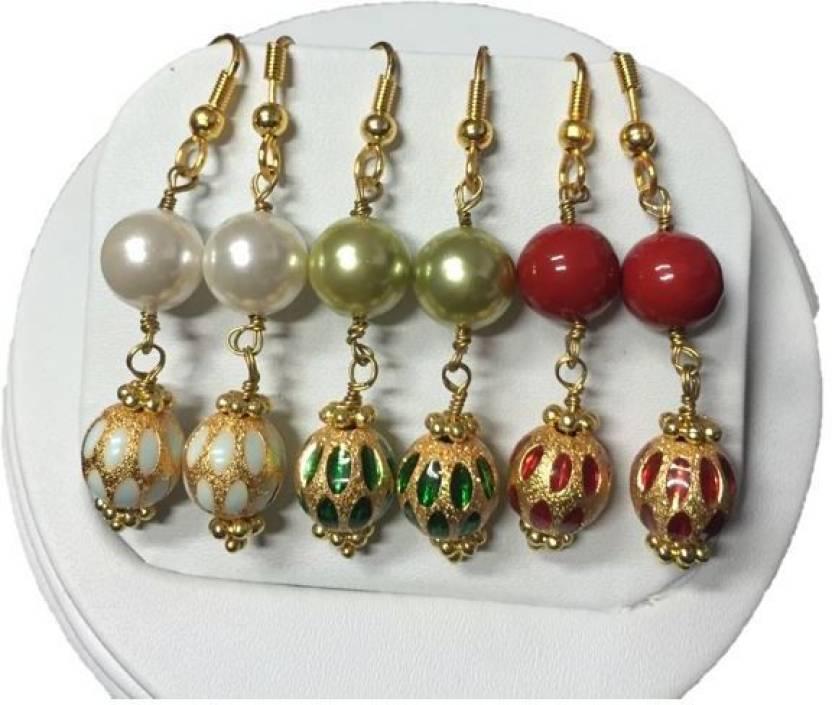 03afc0657 Flipkart.com - Buy Kanishk Creations Designer Danglers Earrings Alloy  Earring Set Online at Best Prices in India