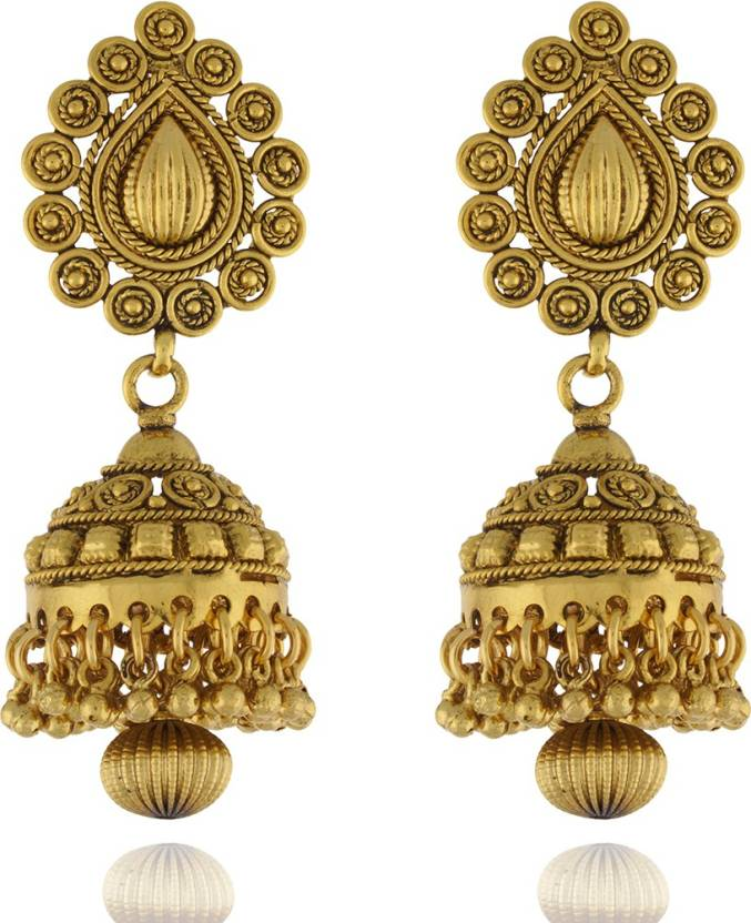 64ac0c02e1d31 Flipkart.com - Buy Chaahat Fashion Jewellery New Fancy Copper Jhumki ...
