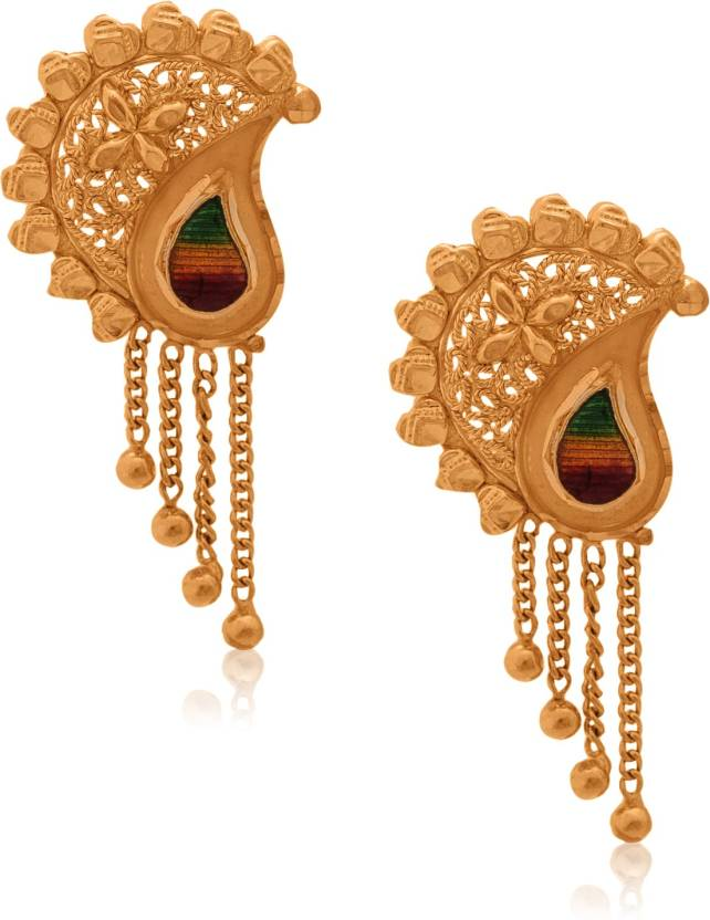 Senco Gold Contemporary Yellow Gold 22kt Stud Earring Price in ...