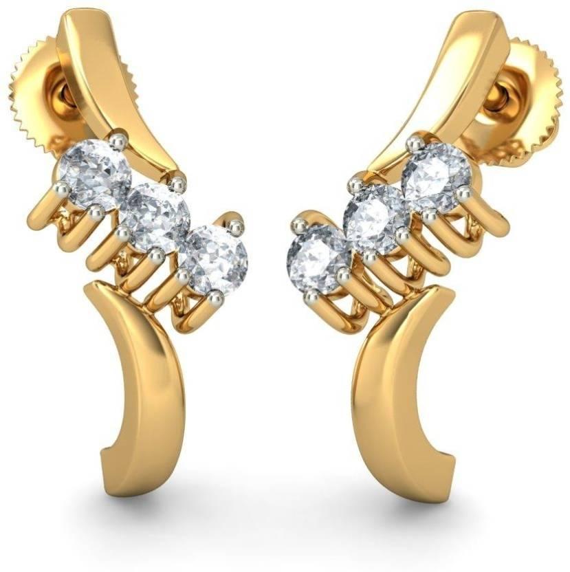 BlueStone The Adanas Yellow Gold 14kt Diamond Hoop Earring